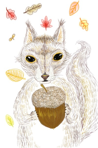 this squirrel owns an acorn | Dal | Digital Drawing | PENUP