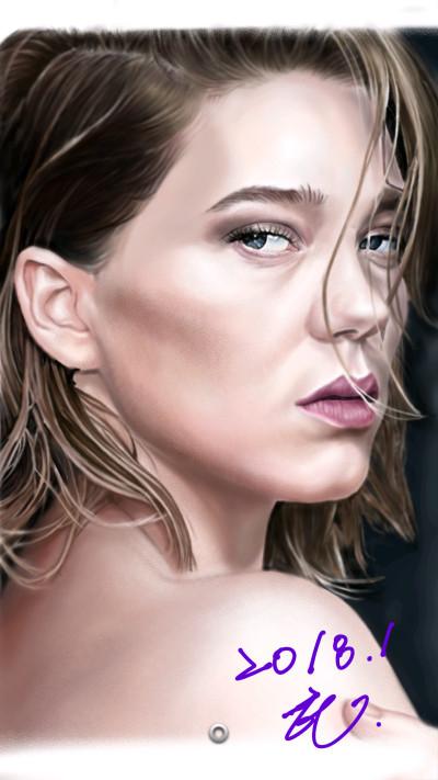 Lea Seydoux. | honey | Digital Drawing | PENUP