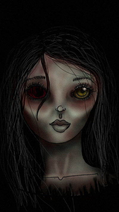 "Close up of ""Living Dead Girl"" | .-.-.A.L.B.-.-. | Digital Drawing | PENUP"