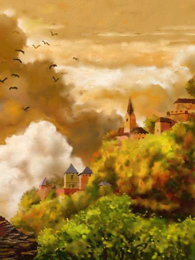 A fantasy village | SSB | Digital Drawing | PENUP