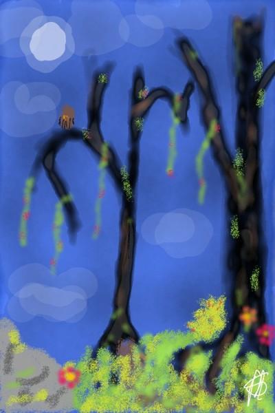 2 and A Bush   matt   Digital Drawing   PENUP