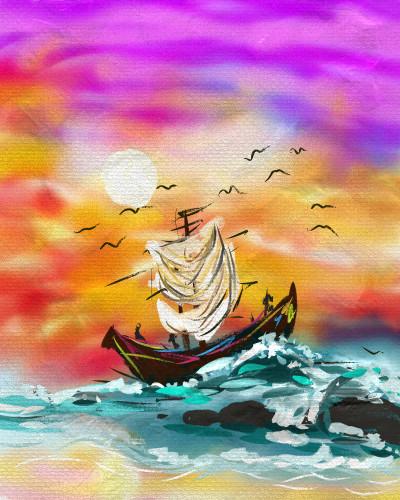 waves | shahir | Digital Drawing | PENUP
