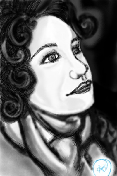 woman in a scarf | avictorias13 | Digital Drawing | PENUP