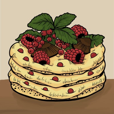 Raspberry Pan Cake | yangchi | Digital Drawing | PENUP