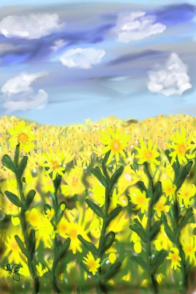 Field of Flowers | Jules | Digital Drawing | PENUP