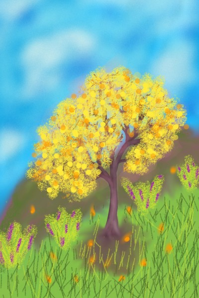 Yellow tree | Venkatesh | Digital Drawing | PENUP