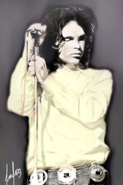 Jim Morrison      (El rey lagarto) | cesar | Digital Drawing | PENUP