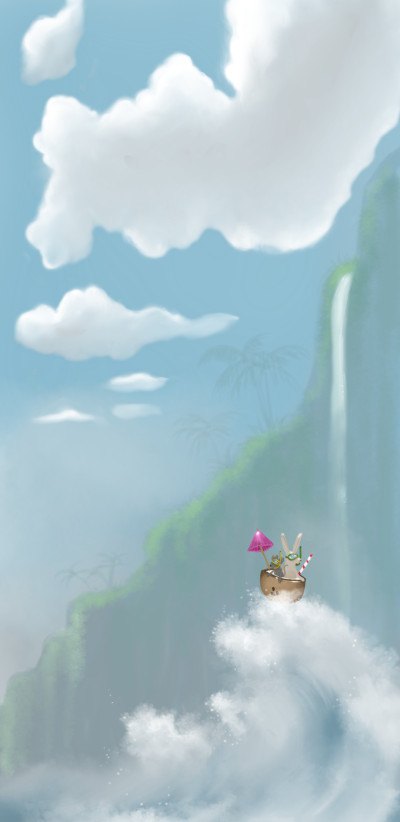 coconut adventures  | SPR | Digital Drawing | PENUP