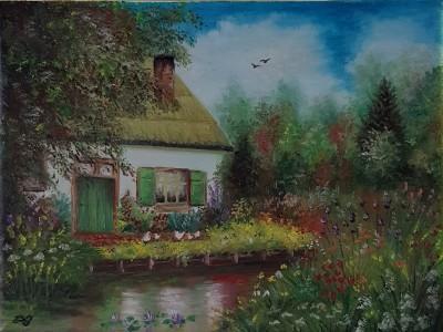 house on lake | Damirijana | Digital Drawing | PENUP