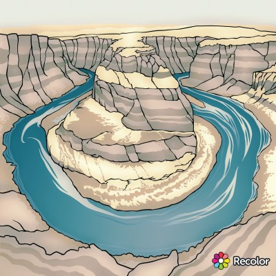 Landscape Digital Drawing | con | PENUP