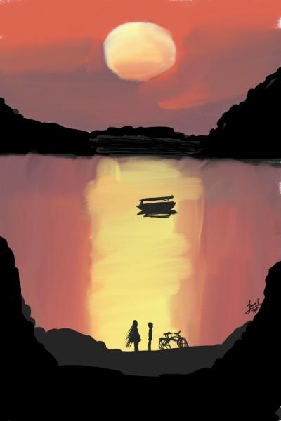 sun set  | ixmail | Digital Drawing | PENUP