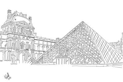 The Louvre Paris | StevenCarroll | Digital Drawing | PENUP