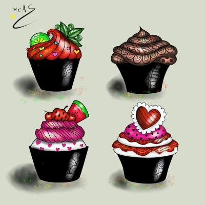 Cupcakes  | Carme | Digital Drawing | PENUP