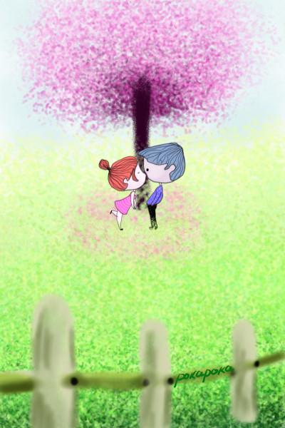 A small park where spring has come | pokapoka | Digital Drawing | PENUP
