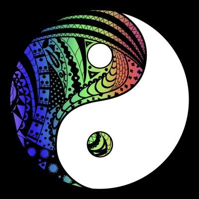 Rainbow Yin Yang | tashapreisner | Digital Drawing | PENUP