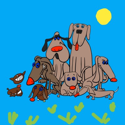i love dogs got 6  | shawnsmith | Digital Drawing | PENUP