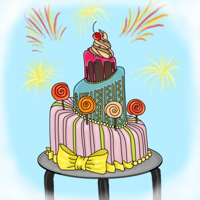 birthday cake | Idea | Digital Drawing | PENUP