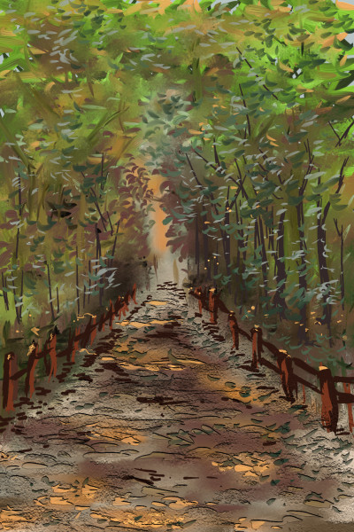 Back road | AntoineKhanji | Digital Drawing | PENUP