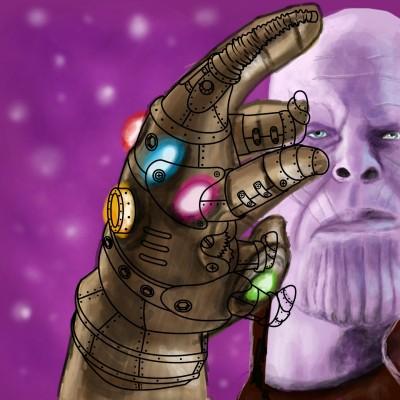 Thanos is back! :( | Prashant | Digital Drawing | PENUP
