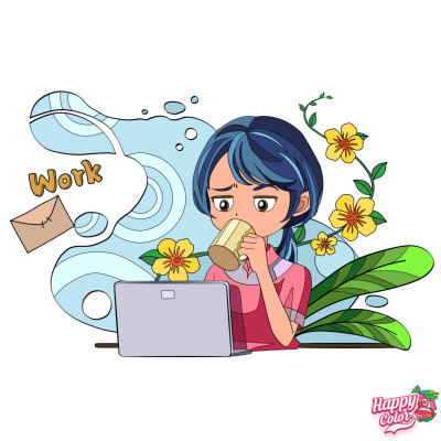Cartoon Digital Drawing   con   PENUP