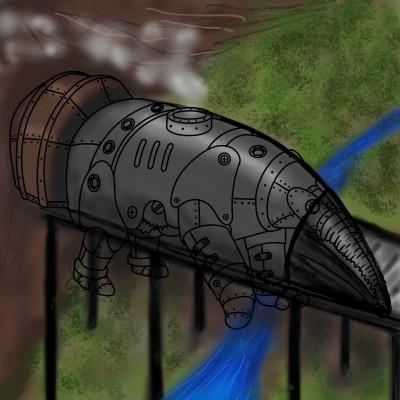 Tren passant pel pont   amelia   Digital Drawing   PENUP
