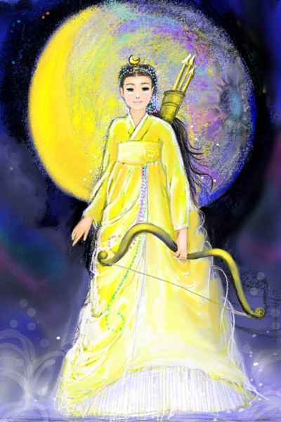 Moon Goddess  한국판 아르테미스 | Nokhong | Digital Drawing | PENUP