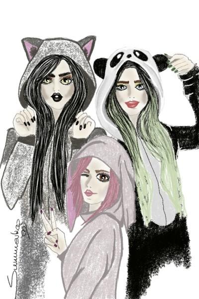 Meet the ladies of | SummerKaz | Digital Drawing | PENUP