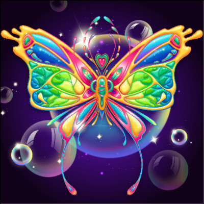 Bubble  Butterfly  | Gaycouple | Digital Drawing | PENUP