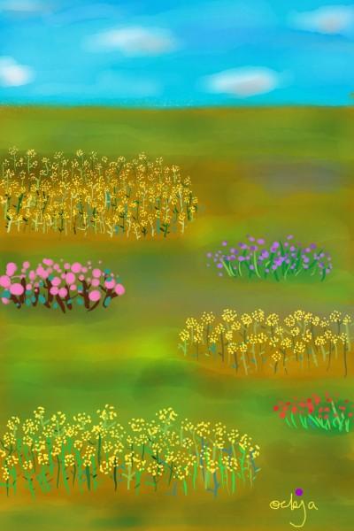 A spring day full of flowers♡ | ockja | Digital Drawing | PENUP