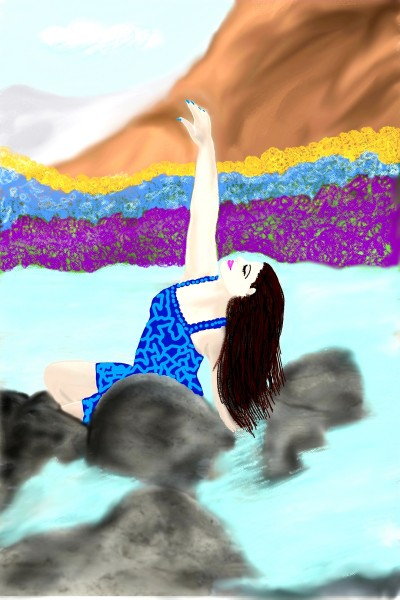 Modelling by the riverside | sulakshana | Digital Drawing | PENUP