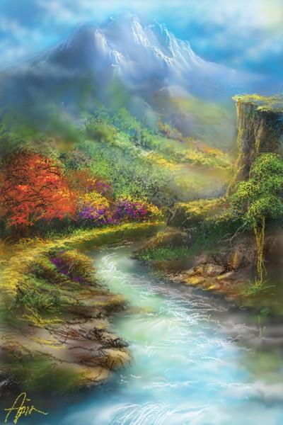 My village river | Aspin | Digital Drawing | PENUP