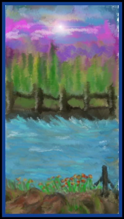 River Runs by K.E.R Challenge April 2020 | katherineeroach | Digital Drawing | PENUP