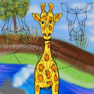 giraffe in isolation | missT | Digital Drawing | PENUP