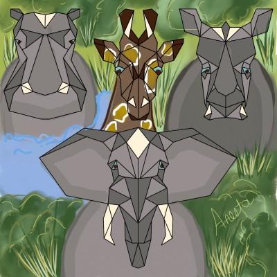 Jungle | Anesta | Digital Drawing | PENUP