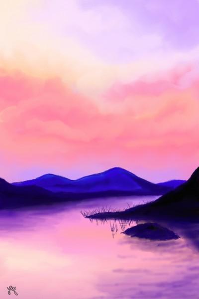 pink sky (30 minutes challenge) | MonSouhait | Digital Drawing | PENUP