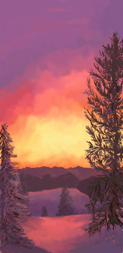 winter sunset | Hanne | Digital Drawing | PENUP