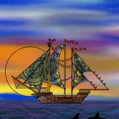sail away to save yourself  | missT | Digital Drawing | PENUP