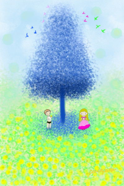 Dandelion flower | pokapoka | Digital Drawing | PENUP