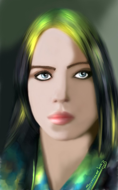 Billie Eilish | SummerKaz | Digital Drawing | PENUP