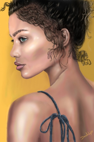 Portrait sur fond jaune | Doodilight | Digital Drawing | PENUP
