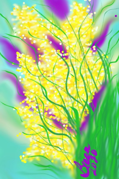 Yellow Blooms | BeccaBlue | Digital Drawing | PENUP