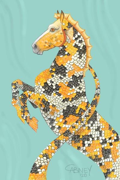 Golden Koi Hippocampus  | shadowmare72 | Digital Drawing | PENUP