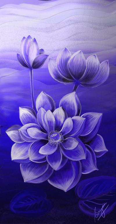 Divine Blue (Thank you ) | Sugan | Digital Drawing | PENUP