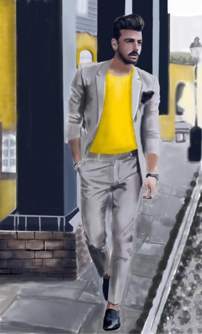 fashion model  | mid0 | Digital Drawing | PENUP
