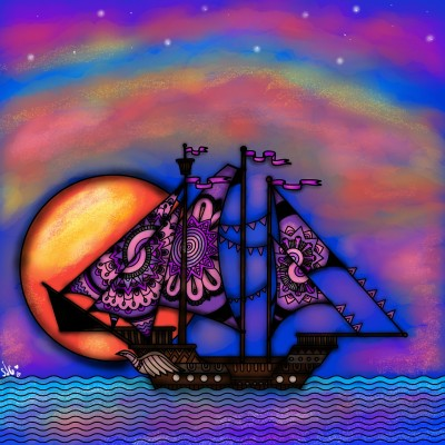 sunset at sea♡ | shannonjeanette | Digital Drawing | PENUP
