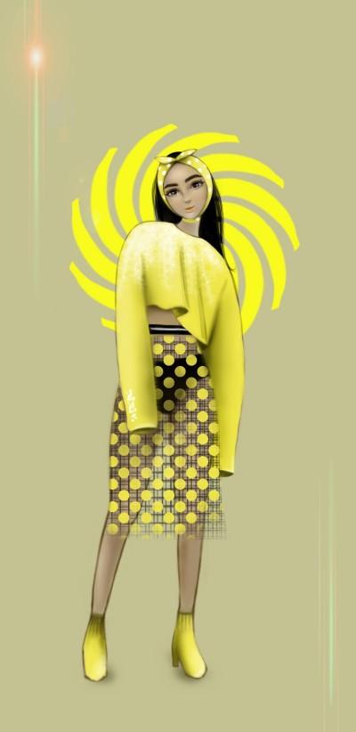 yellow fashion :) | Gigiv. | Digital Drawing | PENUP