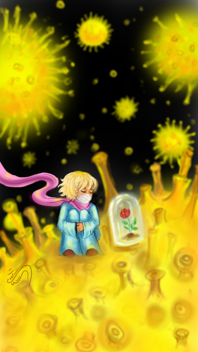 Little prince on the planet of Corona! | sitaArt | Digital Drawing | PENUP