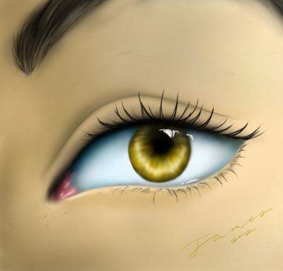 Yellow Eye | James_Maynard | Digital Drawing | PENUP