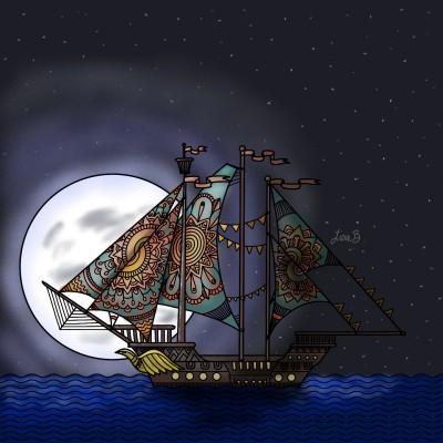 A Night to Sail | LisaBme | Digital Drawing | PENUP