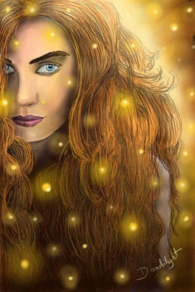Portrait sous les flemmes | Doodilight | Digital Drawing | PENUP